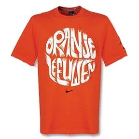 Nike Holland World Cup 2010 Back Of Crest Soccer Tee (Orange)