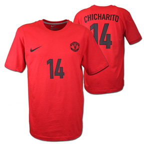 Nike Manchester United Chicharito #14 Hero Soccer Tee (2012/13)