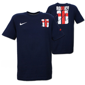 Nike England Rooney #10 Hero Soccer Tee (Navy)