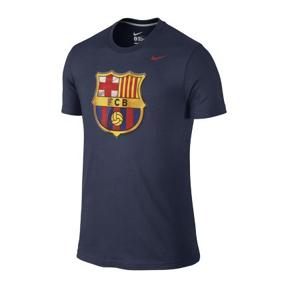 Nike Barcelona Core Basic Crest Soccer Tee (Navy)