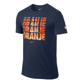 Nike Holland World Cup 2014 Core Type Soccer Tee (Navy)