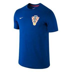 Nike Croatia World Cup 2014 Core Soccer Tee (Blue)