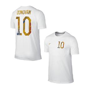 Nike USA Donovan #10 World Cup 2014 Soccer Tee (White)