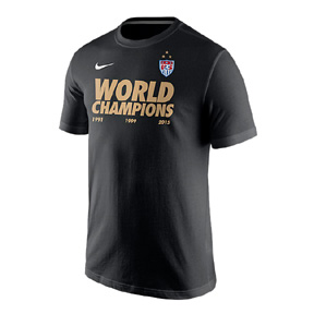 Nike USWNT World Cup Champions Men's Soccer Tee (Black)