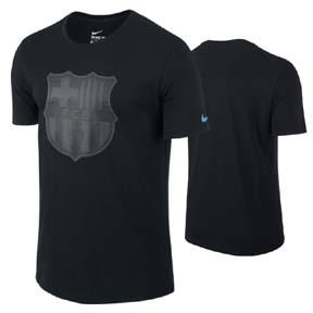 Nike Barcelona Crest Soccer Tee (Black 2015)