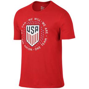 Nike  USA  Pride Soccer Tee (Challenge Red 2016)
