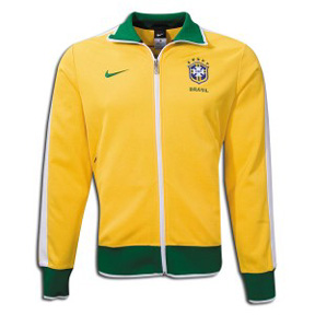 Nike Brasil / Brazil N98 Soccer Track Top (Yellow)