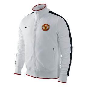 Nike Manchester United Authentic N98 Soccer Track Top (White)