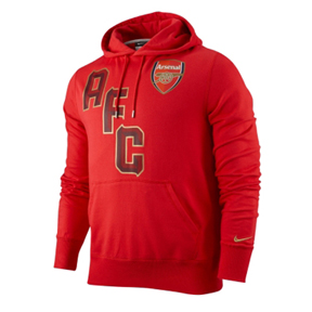 Nike  Arsenal Core Soccer Hoody (Artillery Red)