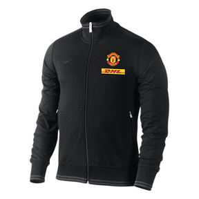 Nike  Manchester United Authentic N98 Soccer Track Top (Black)