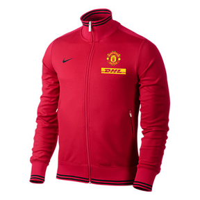 Nike Manchester United Authentic N98 Soccer Track Top (DHL - Red)