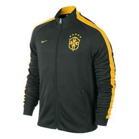 Nike Brasil / Brazil  World Cup 2014 N98 Soccer Track Top (Black)