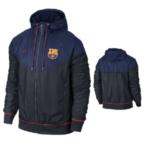 Nike Barcelona Authentic Windrunner Soccer Jacket (Navy - 2015/16 ...