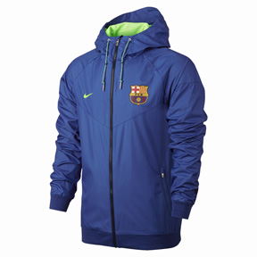 Nike  Barcelona   Authentic Windrunner Soccer Jacket (Royal - 2017)