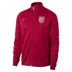 Nike USA  Authentic N98 Soccer Track Top (Red 2017)