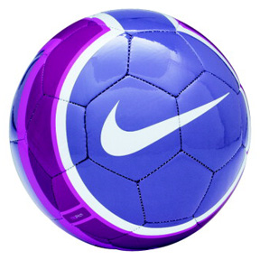 Nike T90 Pitch Soccer Ball (Purple/White/Pink)