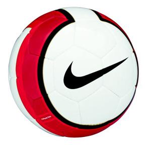 Nike Total 90 Premier Team Soccer Ball (White/Red)