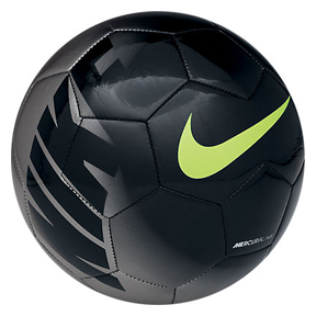 Nike Mercurial Fade Training Soccer Ball (Black/Silver/Volt)