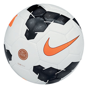 Nike Club Team Soccer Ball (White/Orange)