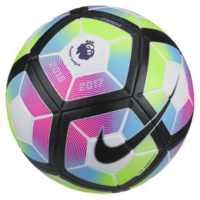 Nike  Ordem  4 Premier League Match Soccer Ball (White/Blue/Pink)