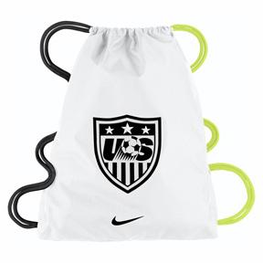 Nike USA Allegiance 2.0 Soccer Gymsack (White/Volt)