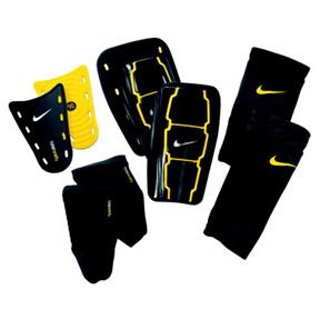 Nike Total 90 EXP Soccer Shinguard (Black/Yellow)