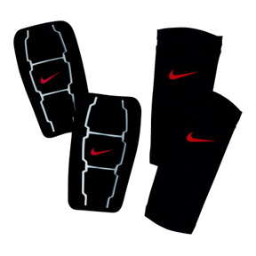Nike Total 90 Custom Moldable Soccer Shinguard (Black/Red)