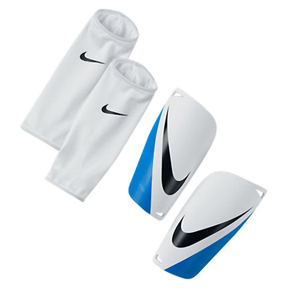 Nike Mercurial Lite Soccer Shinguard (White/Blue/Black)
