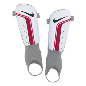 Nike Shield Soccer Shinguard (White/Red)