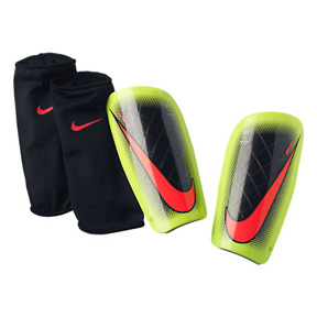 Nike Mercurial Lite Soccer Shinguard (Black/Volt/Punch)