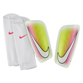 Nike Mercurial Lite Soccer Shinguard (White/Multi)