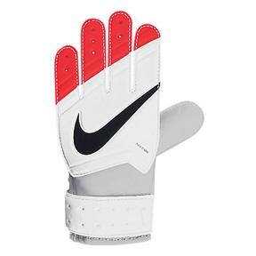 Nike Youth GK Grip Glove (White/Total Crimson)