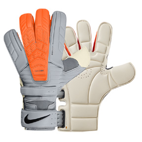 Nike GK  Confidence Soccer Goalie Glove (Wolf Grey/Orange)