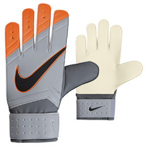 Nike GK Match Soccer Goalie Glove (Wolf Grey/Orange)