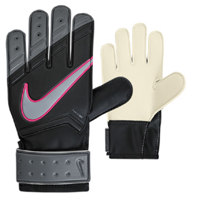 Nike Youth Match Soccer Goalkeeper Glove (Black/Grey/Pink)