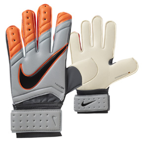 Nike GK Spyne Pro Soccer Goalie Glove (Wolf Grey/Orange)
