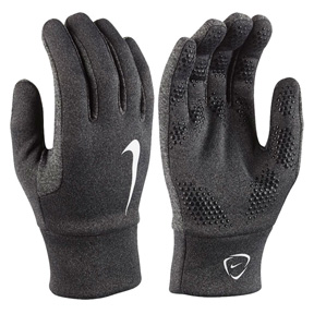 Nike Youth HyperWarm Field Player Glove (Black Heather)