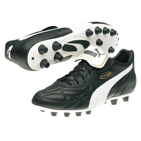 Puma King Top di FG Soccer Shoes (Black/White/Gold)