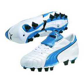 Puma Womens Vencida I FG Soccer Shoes (White/Blue)