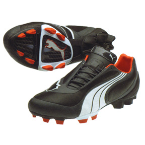 Puma v3.08 I FG L Soccer Shoes (Black/White)