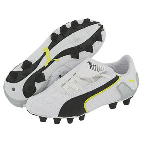 Puma Youth v-Kon II FG Light Soccer Shoes (White/Black)