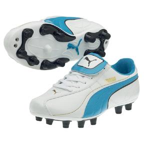 Puma Youth Esito XL i FG Soccer Shoes (White/Blue)