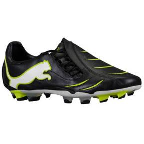 Puma Powercat 2.10 FG Soccer Shoes (Black/White/Slime)