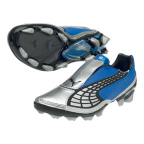 Puma v1.10 FG Soccer Shoes (Royal/Silver)