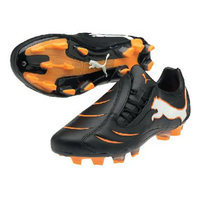 Puma Powercat 2.10 FG Soccer Shoes (Black/Orange)