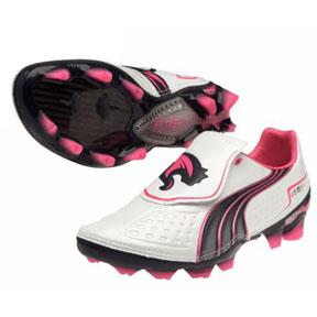Puma Youth v1.11 FG Soccer Shoes (White)