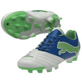 Puma Womens Powercat 3.12 Soccer Shoes (White/Royal)
