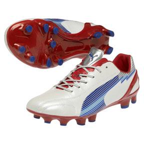 Puma evoSpeed 1 K FG Soccer Shoes (White/Limoges/Red)