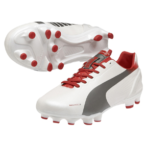 Puma evoSpeed 3.2 FG Soccer Shoes (White)