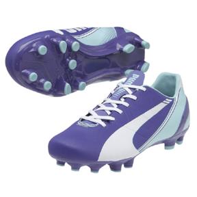 Puma Womens evoSpeed 4.3 FG Soccer Shoes (Purple/White)